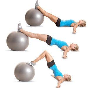 Leg curl con stability ball