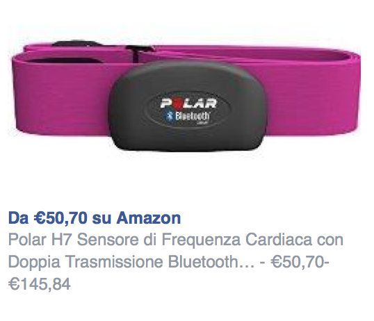 cardiofrequenzimetro Polar H7 Rosa