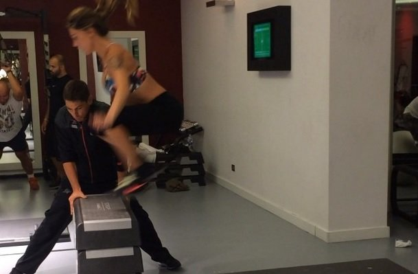 box jump Belen in palestra