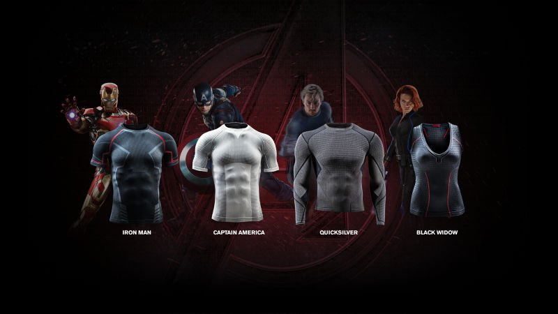 Le maglie termiche dei supereroi Under Armour
