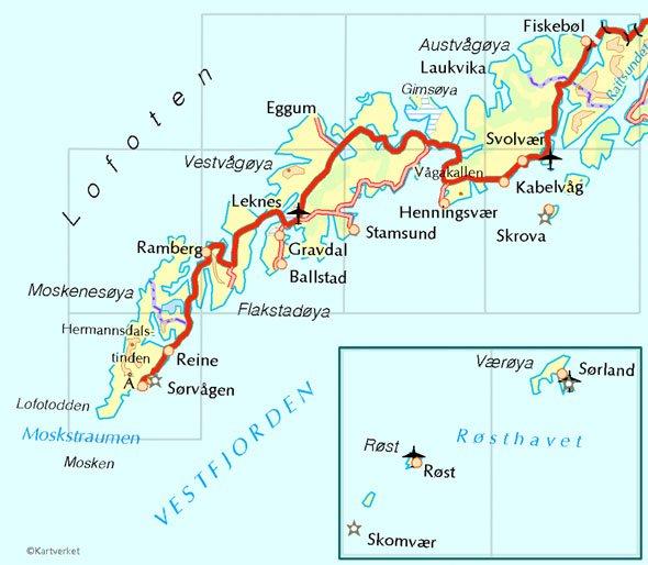 Isole Lofoten mappa