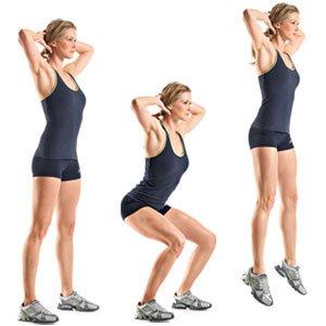 fare lo squat con salto