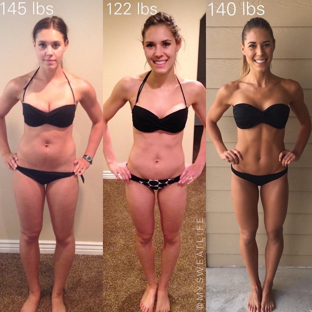 Prima e dopo la Bikini Body Guide - ottava settimana