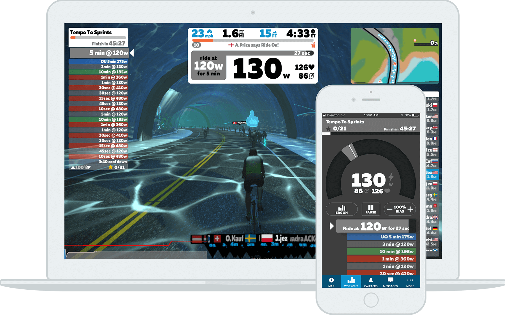 indoor cycling in casa app