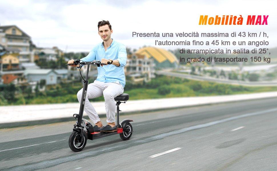 scooter elettrico ad alte prestazioni