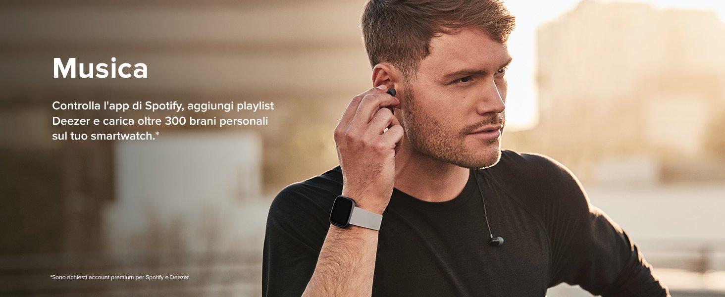 Fitbit Versa 2 on musica